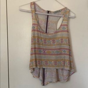 Nordstrom Boho Tribal Cropped Top